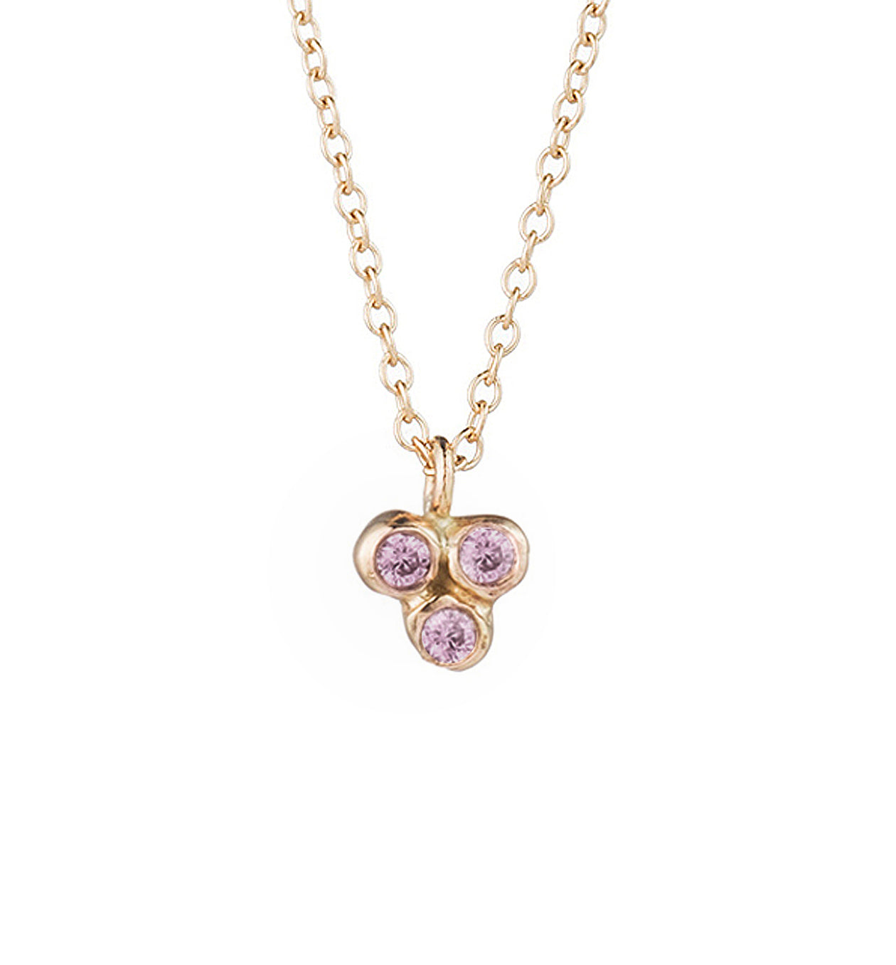 Cluster Sea Anemone Necklace Pink Sapphire