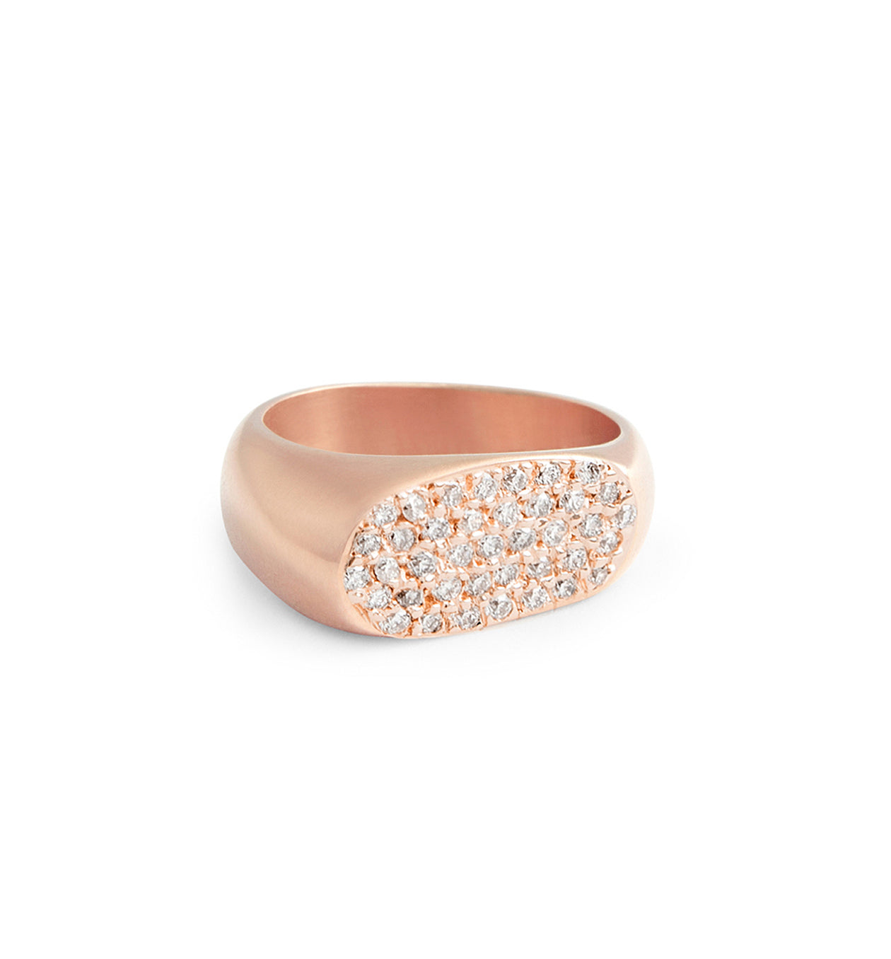 Lipstick Ring Rose Gold Pave