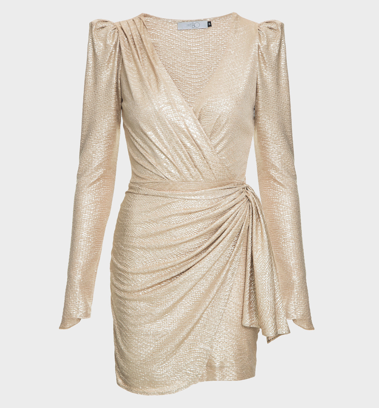 Gold Lamé Mini Dress