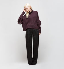 Turtleneck Sweater Purple Smoke