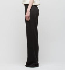 Pleat Long Pant Black