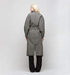 Iris Long Coat Fishbone Tweed