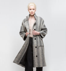 Kate Jacket Grey Color Tweed Wool