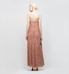 French Lace Dress Rose Sable