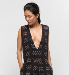 Hotcross Romper Black Sampler