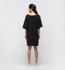Snap Shot Dress Black