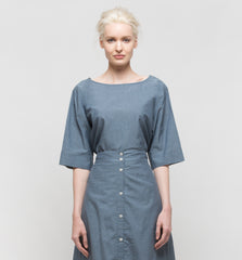 Radius Top Navy Chambray