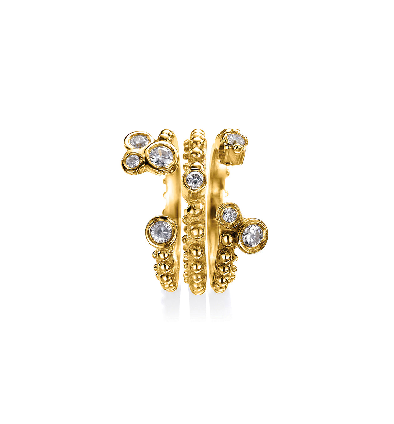 Boheme Lea + Crowns Diamond Rings Set