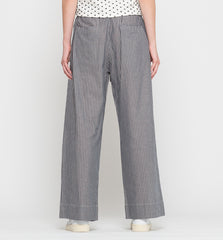 Bay Wide Leg Pant Chambray Stripe