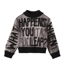What Happens When You Leap Sweater (Black)
