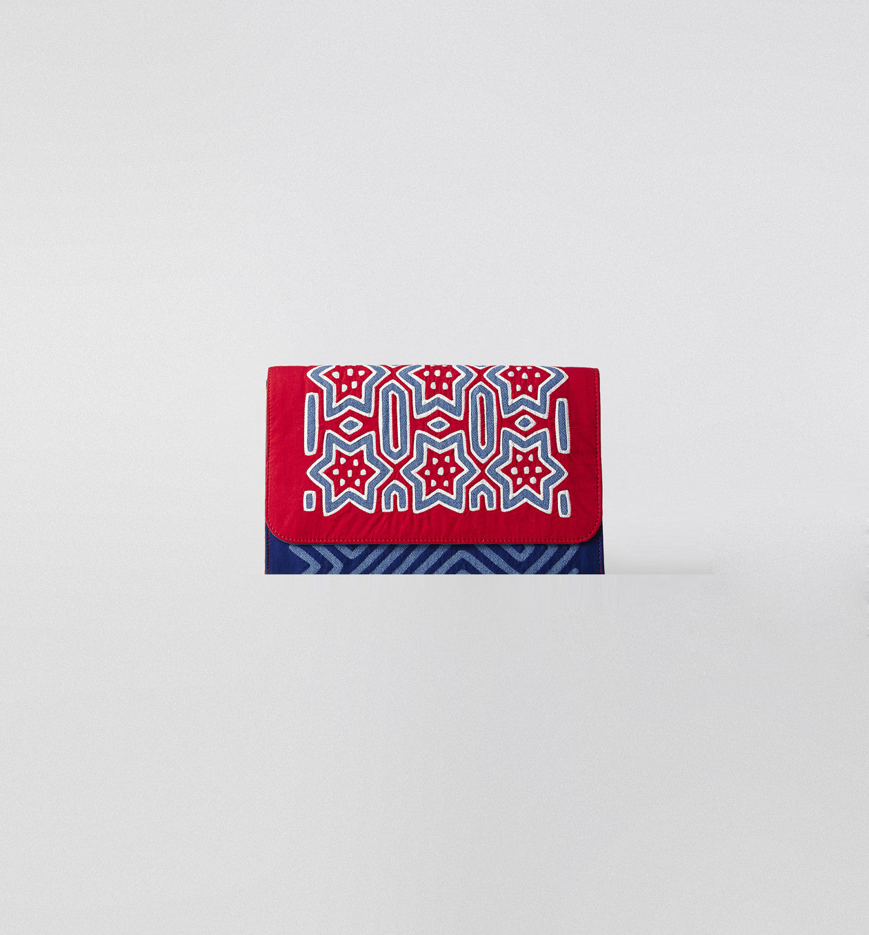 Mola Denim Clutch Red