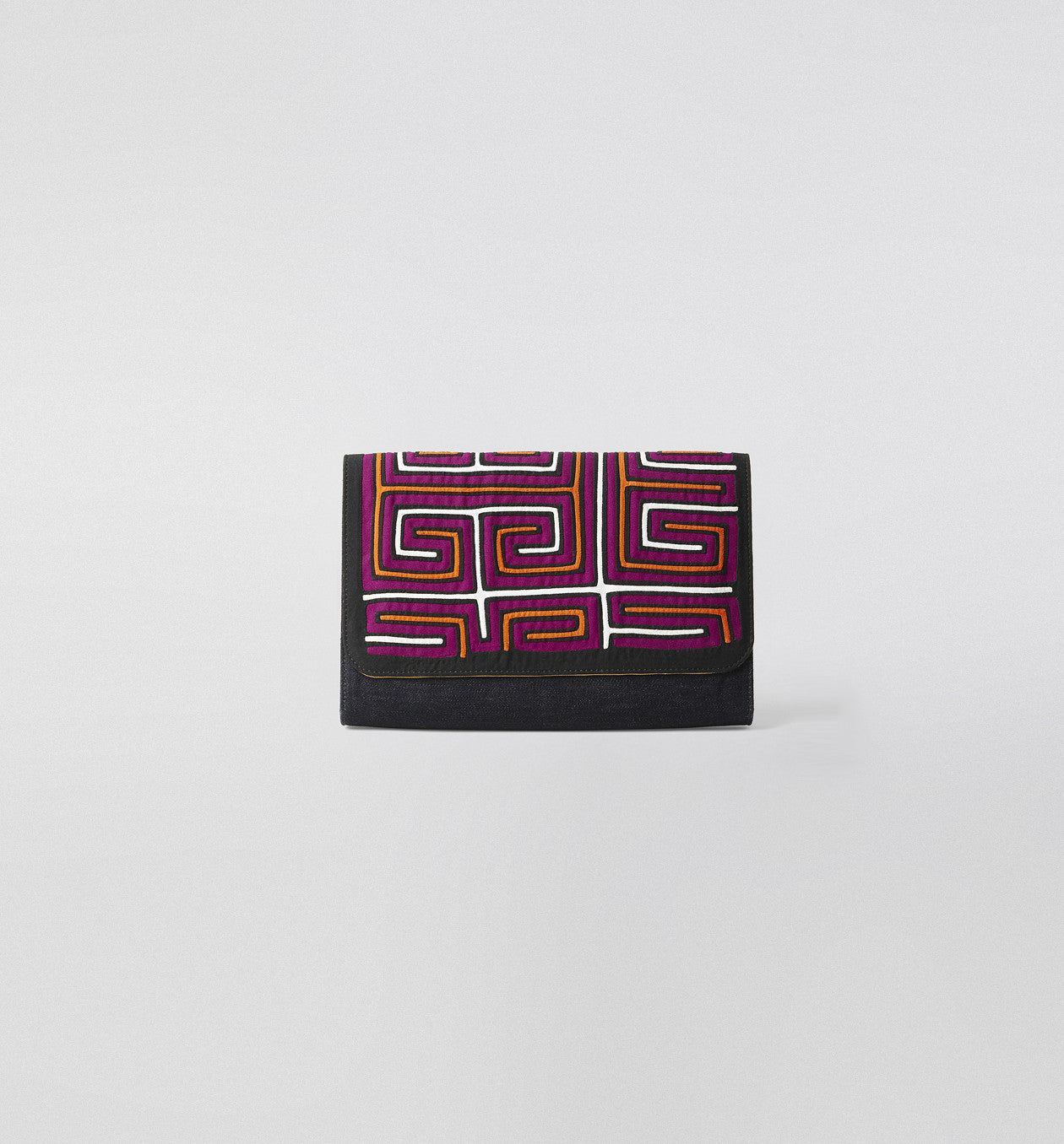 Mola Denim Clutch Purple