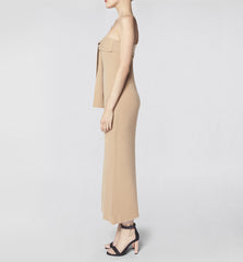 One Shoulder Dress Camel