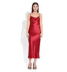 Draped Spaghetti Strap Midi Dress