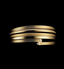 Fluted Hinged Bangle