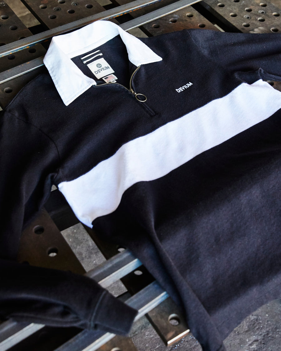 Ruck Zip-Up Rugby Shirt