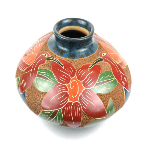 3 inch Tall 5 inch Wide Vase - Bird - Esperanza en Accion