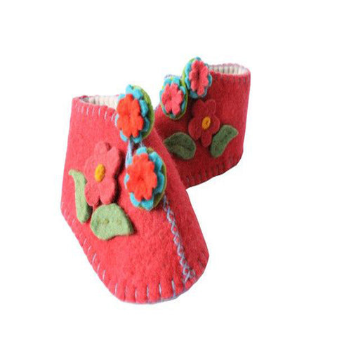 Red Zooties Baby Booties - Silk Road Bazaar