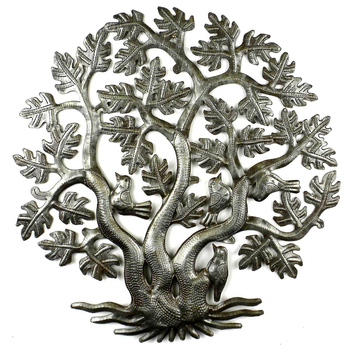14 Inch 3 Trunk Tree Of Life Wall Art   Croix Des Bouquets