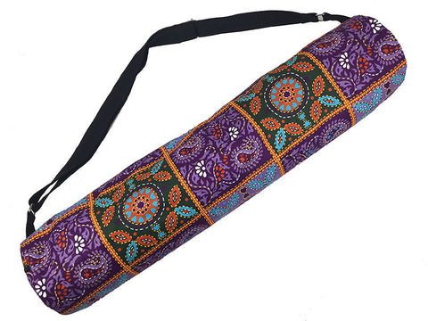Purple Mathila Yoga Mat Bag - Global Groove (Y)