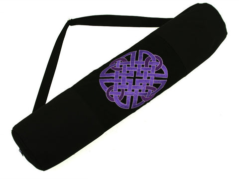 Purple Celtic Knot Yoga Mat Bag - Global Groove (Y)