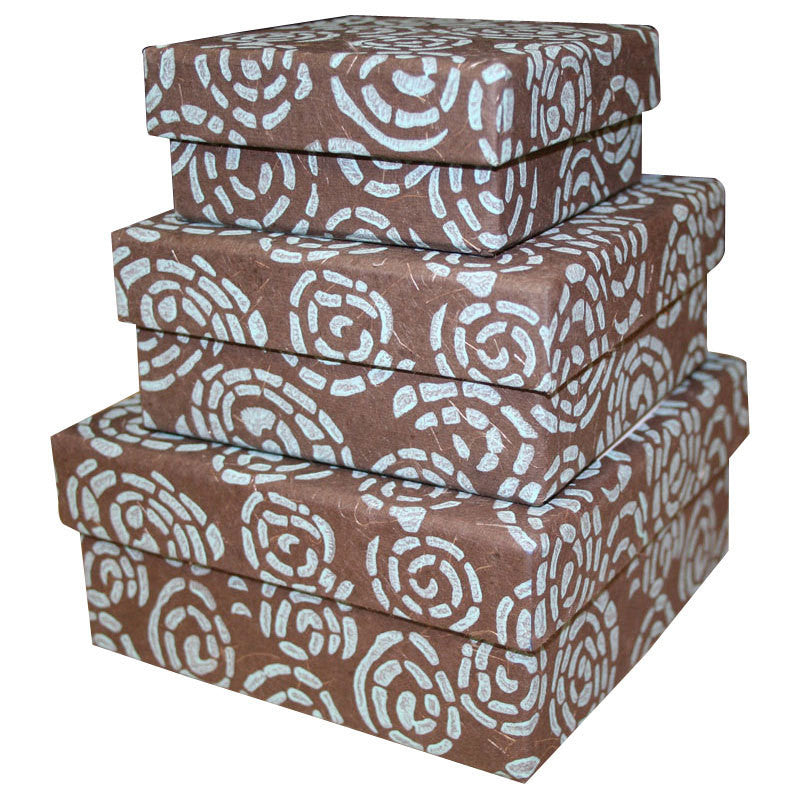 bb67f7192ff24 Cocoa Swirl Nesting Boxes - 3 Boxes Handmade and Fair Trade ...