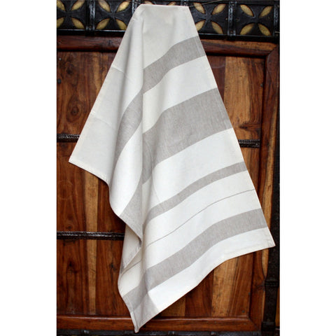Ash Cotton Kitchen Towel - Sustainable Threads (L)