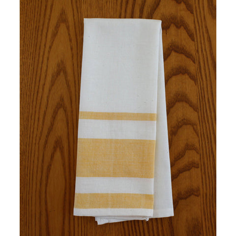 Yellow Stripes Cotton Tea Towels Set of 2 - Sustainable Threads (L)
