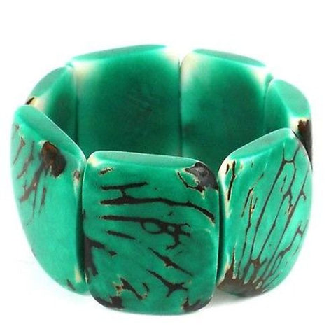 Classic Tagua Bracelet in Jade - Faire Collection