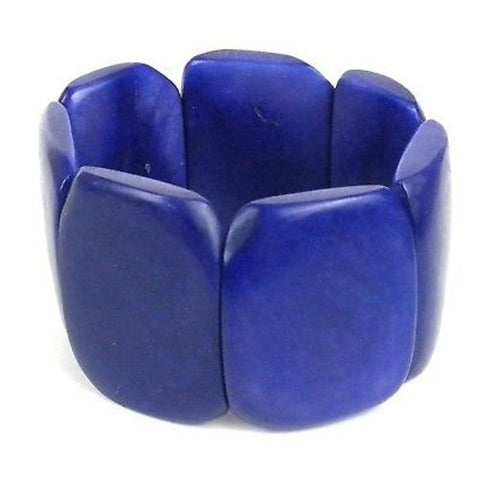 Polished Tagua Nut Bracelet in Ultraviolet - Faire Collection