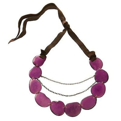 Floresta Necklace - Berry - Faire Collection