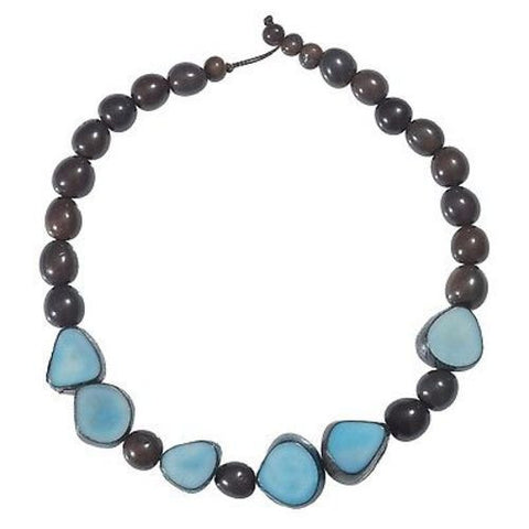 Gemma Tagua Necklace in Quarry - Faire Collection