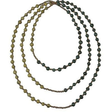 Colorblock Rope Necklace - Onyx and Olive - Faire Collection