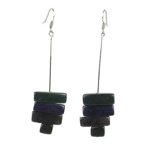 Rialto Tagua Nut Earrings in Hunter Green - Faire Collection
