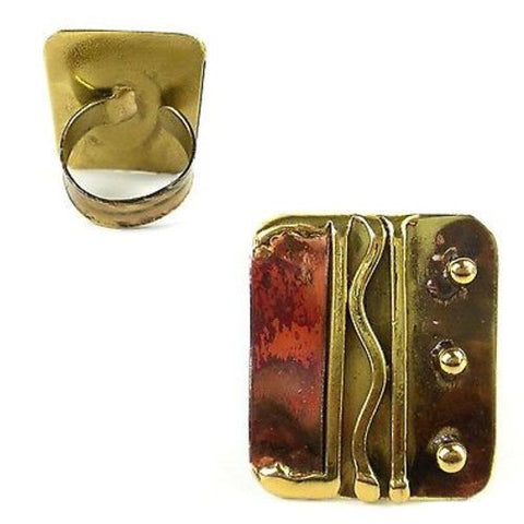 Trifecta Brass and Copper Ring - Brass Images (O)