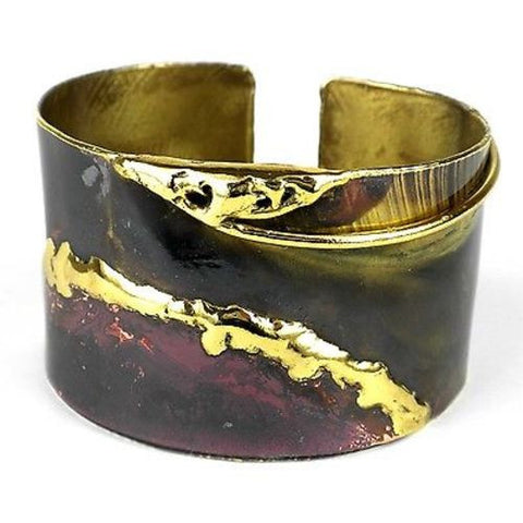Earth's Mantle Copper and Brass Cuff - Brass Images (C)