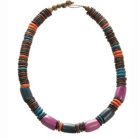 Mariposa Tagua and Coconut Necklace - Faire Collection