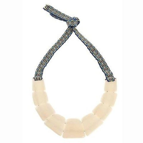 Tagua Trapezoid Necklace in Cream - Faire Collection