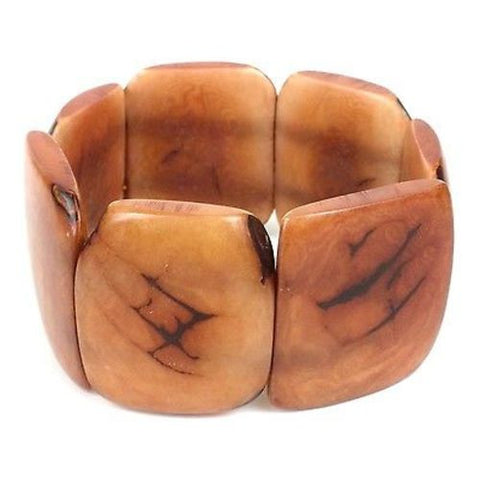 Polished Tagua Nut Bracelet in Nude - Faire Collection