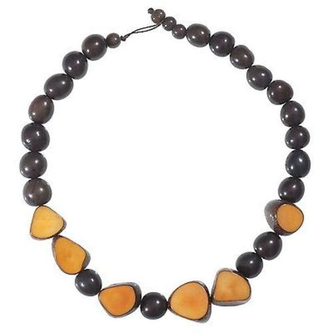 Gemma Tagua Necklace in Incan Sun - Faire Collection