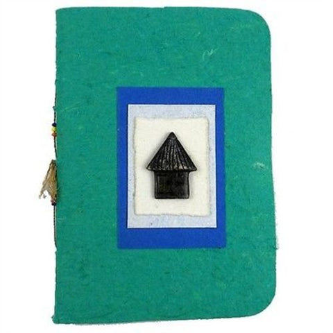 Handmade Paper Notebook - Hut - Eco Africa