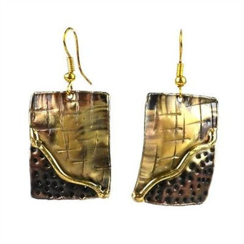 Convergence Brass Earrings - Brass Images (E)