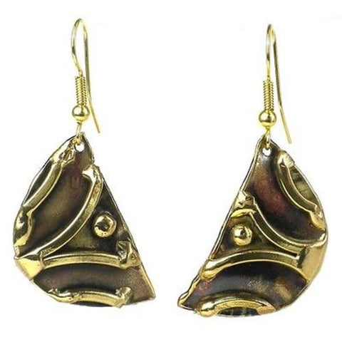 Handmade Brass Arches Earrings - Brass Images (E)