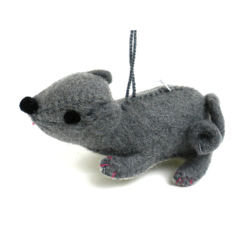 Felt Mouse Ornament - Silk Road Bazaar (O)