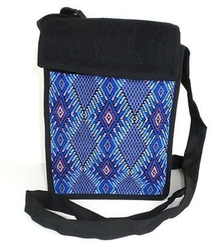 Backstrap Woven Chichi Multi Use Bag in Blue - Maya Traditions (B)