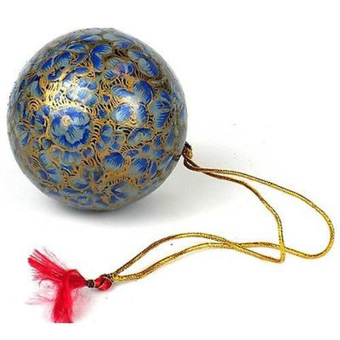 Papier Mache Ball Ornament - 2.5 inch - Baby Blue - CFM (H)