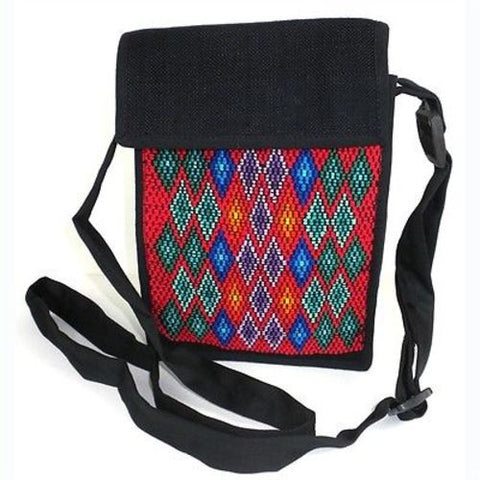 Backstrap Woven Chichi Multi Use Bag in Red - Maya Traditions (B)