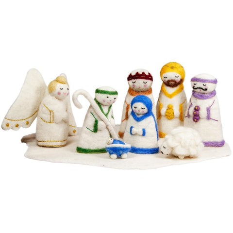 Felt Holy Family Nativity - Wild Woolies (H)