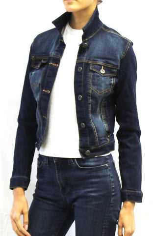 Cropped Denim Jacket (Dark Wash & Medium Wash)