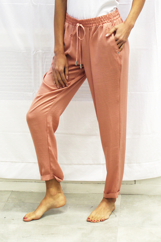 Challis Satin Tapered Pants